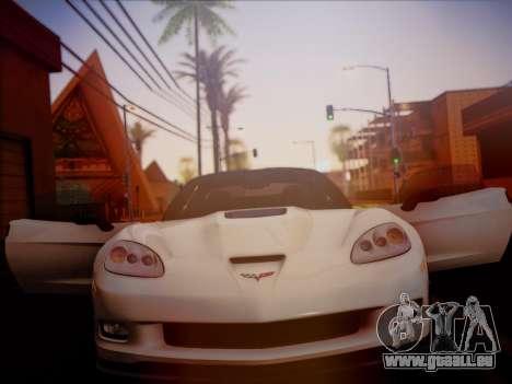 Chevrolet Corvette ZR1 2010 pour GTA San Andreas vue de droite