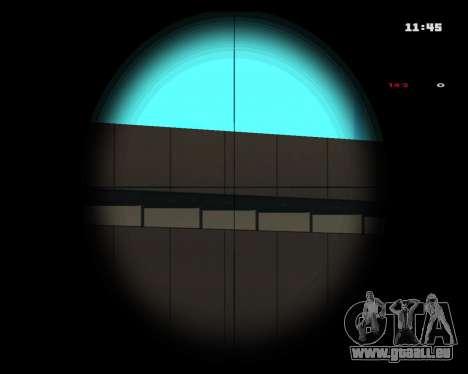 White Chrome Sniper Rifle für GTA San Andreas dritten Screenshot