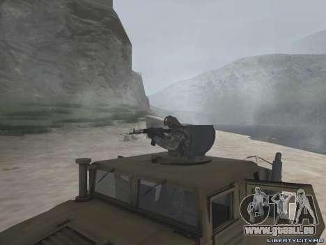 Hamvee M-1025 de Battlefiled 2 pour GTA San Andreas vue de droite