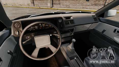 Toyota Corolla GT-S AE86 Trueno pour GTA 4 est une vue de l'intérieur