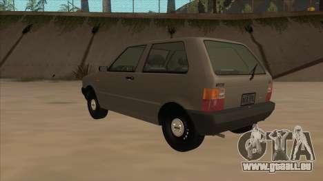 Fiat Uno 1995 für GTA San Andreas Rückansicht