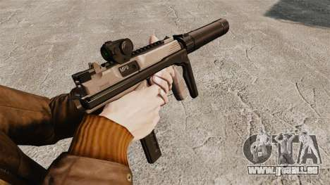 Taktische MP9 Maschinenpistole v1 für GTA 4 Sekunden Bildschirm