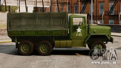 Base militaire camion AM général M35A2 1950 pour GTA 4 est une gauche