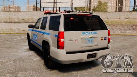 Chevrolet Tahoe 2007 NYPD [ELS] für GTA 4 hinten links Ansicht