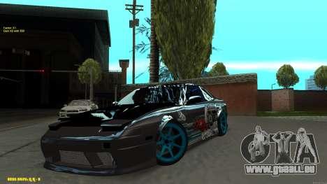 Nissan Silvia RPS13 CIAY pour GTA San Andreas vue intérieure