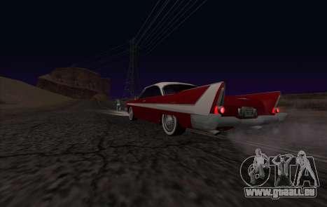 Plymouth Fury für GTA San Andreas Rückansicht