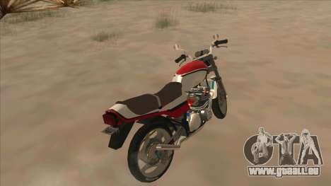 Honda CBX400F pour GTA San Andreas sur la vue arrière gauche