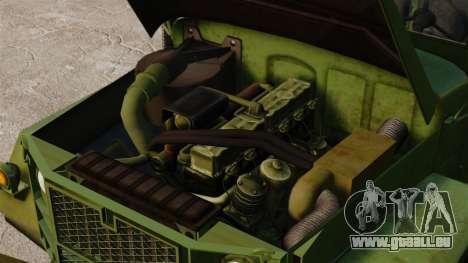 Base militaire camion AM général M35A2 1950 pour GTA 4 est un côté