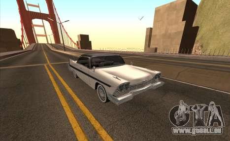 Plymouth Fury pour GTA San Andreas vue de côté