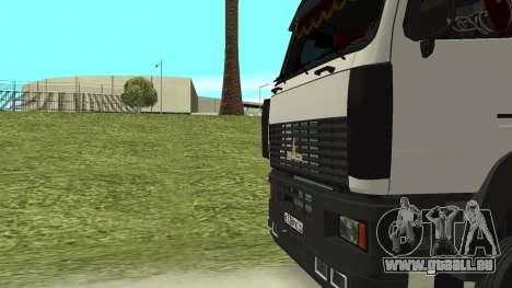 MAZ 5440 pour GTA San Andreas vue de dessus