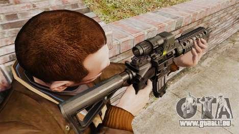Carabine M4 CQC dans le style de Modern Warfare pour GTA 4 secondes d'écran
