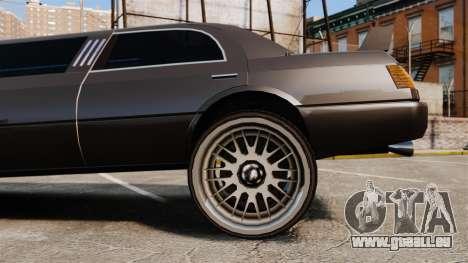 Dragsters Limo pour GTA 4 Vue arrière