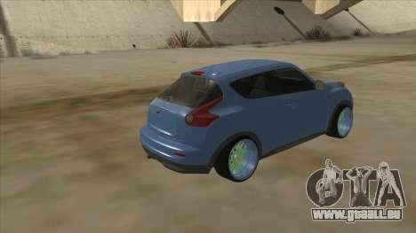 Nissan Juke Lowrider pour GTA San Andreas vue arrière