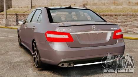 Mercedes-Benz E63 AMG für GTA 4 hinten links Ansicht