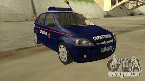Opel Corsa 2005 Carabinieri pour GTA San Andreas laissé vue