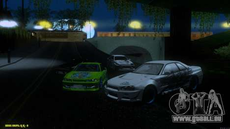 Nissan Skyline GTR 34 CIAY pour GTA San Andreas vue arrière