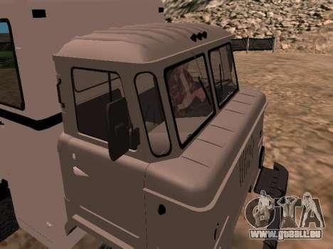 Regardez le GAZ 66 pour GTA San Andreas vue intérieure