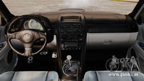 Lexus IS 300 pour GTA 4 Vue arrière