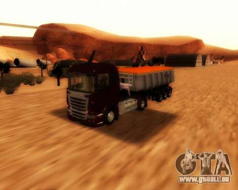 Remorque Schmitz Cargo Bull pour GTA San Andreas vue de droite