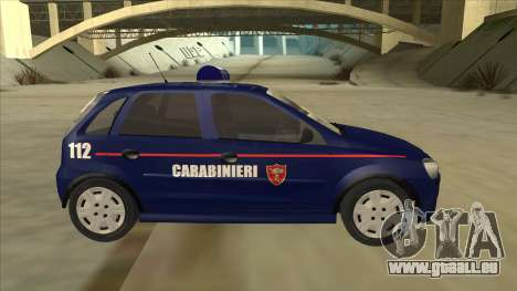 Opel Corsa 2005 Carabinieri pour GTA San Andreas sur la vue arrière gauche