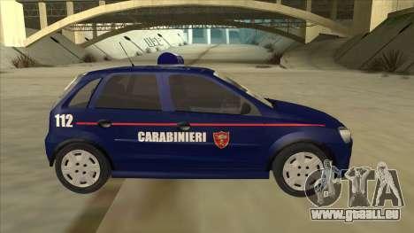 Opel Corsa 2005 Carabinieri für GTA San Andreas zurück linke Ansicht