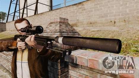 Fusil de sniper AW L115A1 avec un silencieux v4 pour GTA 4 troisième écran