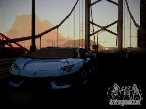 Lamborghini Aventador LP760-2 pour GTA San Andreas vue de dessus