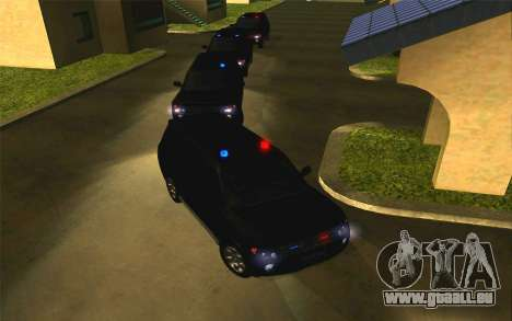 Mitsubishi Pajero für GTA San Andreas Rückansicht