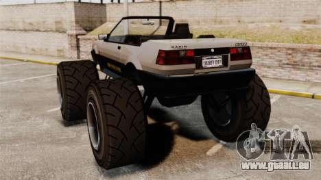 Futo Monster Truck pour GTA 4 Vue arrière de la gauche