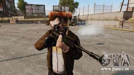 Fusil d'assaut H & K MG36 v3 pour GTA 4 troisième écran