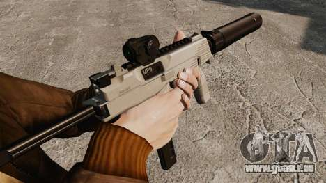 Tactique MP9 pistolet mitrailleur v3 pour GTA 4 secondes d'écran