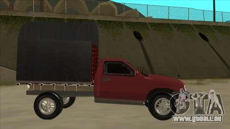 Chevrolet Luv 2.500 diesel pour GTA San Andreas sur la vue arrière gauche