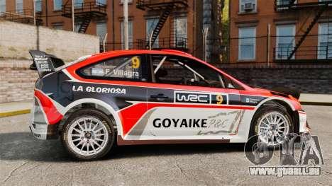 Ford Focus RS Munchis WRC pour GTA 4 est une gauche