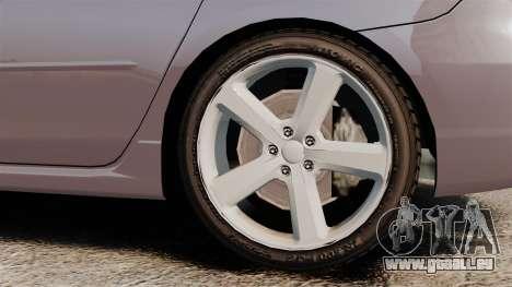 Mazda 3 Sport pour GTA 4 Vue arrière