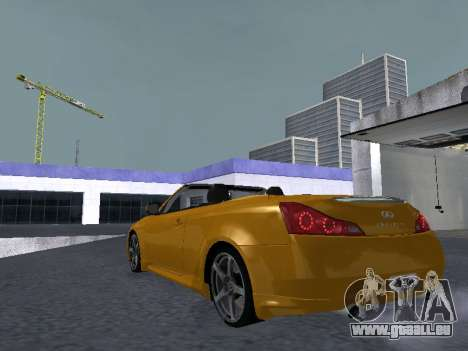 Infinity G37 S Cabriolet pour GTA San Andreas vue de droite
