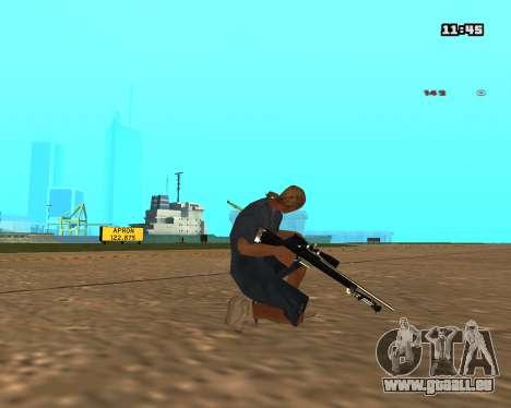 White Chrome Sniper Rifle pour GTA San Andreas deuxième écran