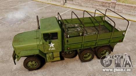 Base militaire camion AM général M35A2 1950 pour GTA 4 Salon