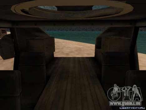 Hamvee M-1025 de Battlefiled 2 pour GTA San Andreas sur la vue arrière gauche