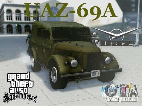 UAZ-69 A pour GTA San Andreas vue intérieure