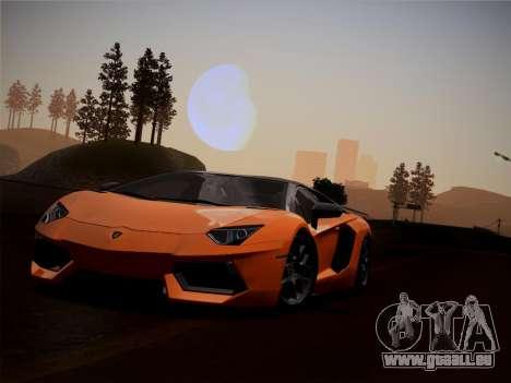 Lamborghini Aventador LP760-2 pour GTA San Andreas vue intérieure