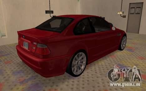 BMW M3 E46 2005 Body Damage für GTA San Andreas zurück linke Ansicht