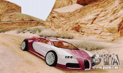 Bugatti Veyron 16.4 Concept pour GTA San Andreas laissé vue