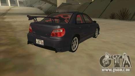 Subaru Impreza WRX STI Drift 2004 pour GTA San Andreas vue de droite