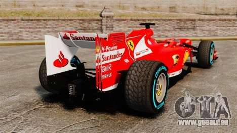 Ferrari F138 2013 v1 pour GTA 4 Vue arrière de la gauche