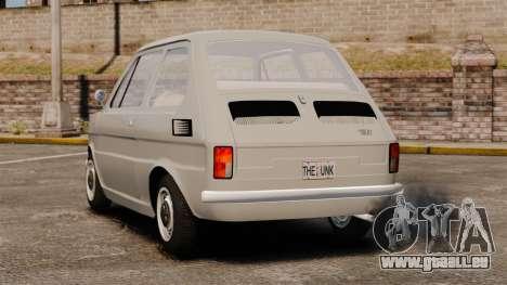 Fiat 126 v1.1 pour GTA 4 Vue arrière de la gauche