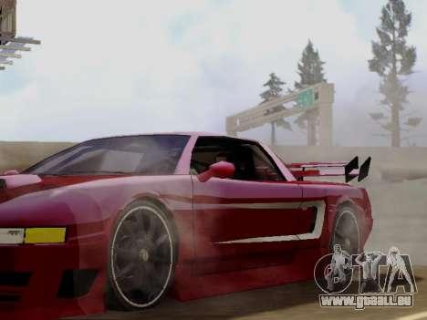 Infernus DoTeX pour GTA San Andreas vue arrière