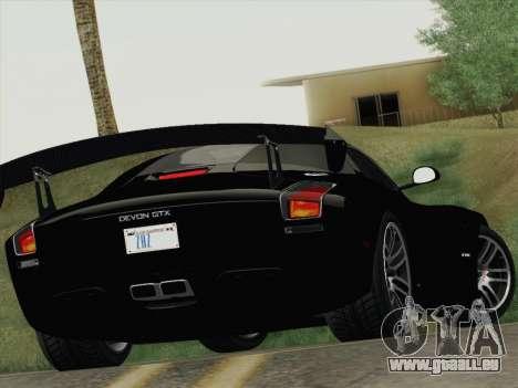 Devon GTX 2010 für GTA San Andreas obere Ansicht