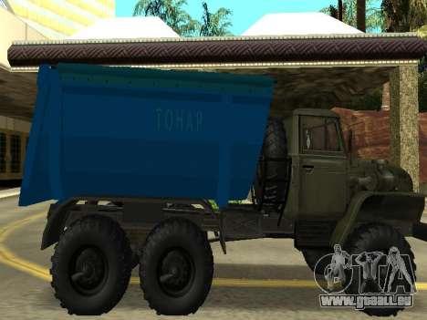 Ural 4320 Tonar pour GTA San Andreas laissé vue