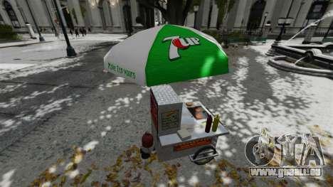 Les kiosques mis à niveau et des charrettes de d pour GTA 4 sixième écran