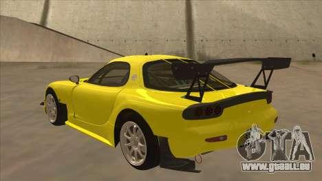 Mazda RX7 FD3S RE Amemyia Touge Style pour GTA San Andreas vue arrière